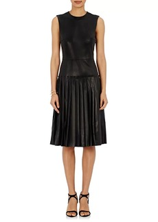 Barneys New York Women's Lambskin Drop-Waist Dress