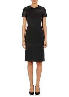 Barneys New York Women's Lambskin Midi-Dress