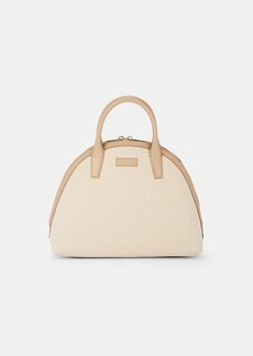 Barneys New York Women's Large Canvas Bowler Bag - Neutral
