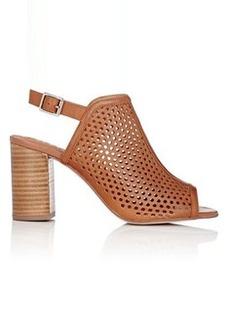 Barneys New York Women's Laser-Cut Leather Slingback Sandals