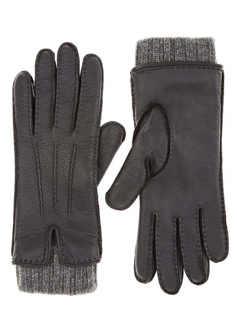 Barneys New York Women's Leather & Cashmere Gloves