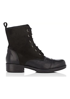 Barneys New York Women's Leather & Suede Combat Boots