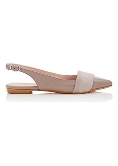 Barneys New York Women's Leather & Suede Slingback Flats