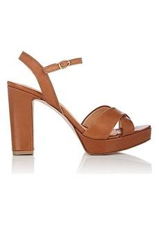 Barneys New York Women's Leather Ankle-Strap Platform Sandals