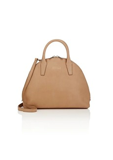 Barneys New York Women's Leather Bowler Bag - Neutral