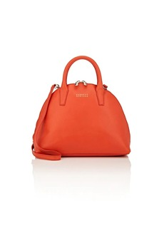 Barneys New York Women's Leather Bowler Bag - Red