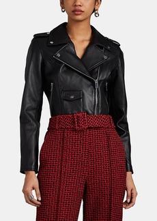 Barneys New York Women's Leather Crop Moto Jacket
