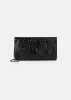 Barneys New York Women's Leather Large Chain Wallet - Black