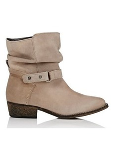 Barneys New York Women's Leather Moto Ankle Boots