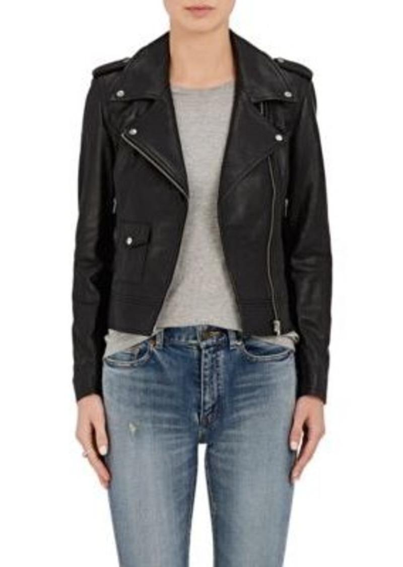 Barneys New York Barneys New York Women S Leather Moto