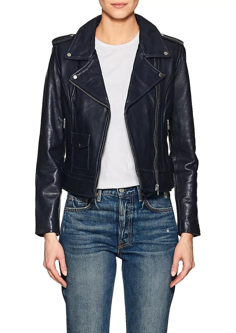 Barneys New York Women's Leather Moto Jacket