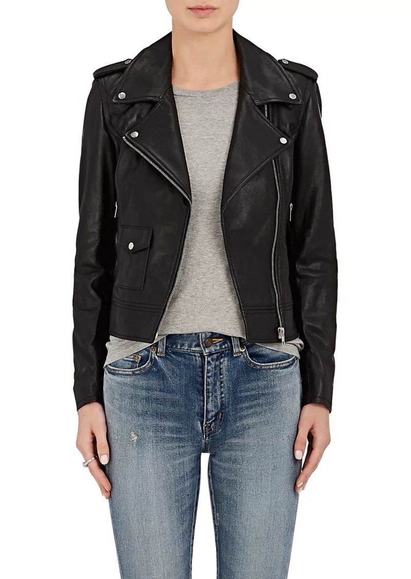 Barneys New York Barneys New York Women s Leather Moto Jacket 6bae84ecc5