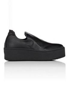 Barneys New York Women's Leather Platform Slip-On Sneakers