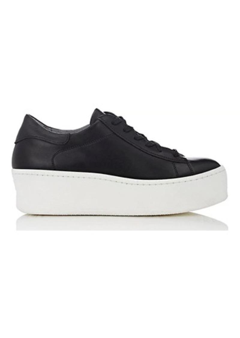 49ee3a4098d Barneys New York Barneys New York Women s Leather Platform Sneakers ...