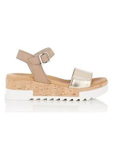 Barneys New York Women's Leather Platform-Wedge Sandals