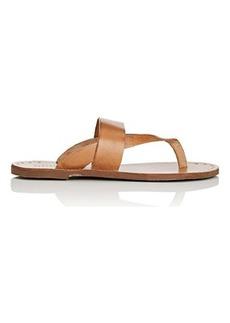 Barneys New York Women's Leather Slide Sandals