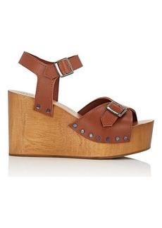 Barneys New York Women's Leather Wedge Sandals