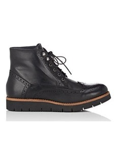 Barneys New York Women's Leather Wingtip Ankle Boots