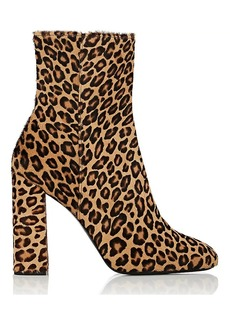 Barneys New York Women's Leopard Calf Hair Ankle Boots