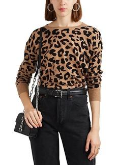Barneys New York Women's Leopard-Pattern Cashmere Sweater