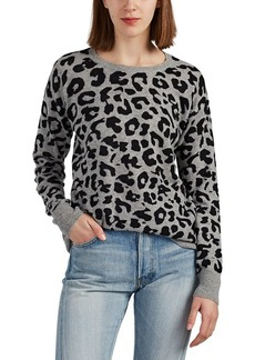 Barneys New York Women's Leopard-Patterned Cashmere Sweater