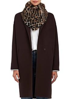 Barneys New York Women's Leopard-Print Rabbit Fur Bandana
