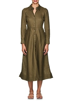 Barneys New York Women's Linen Maxi Shirtdress