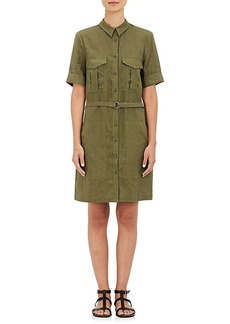 Barneys New York Women's Linen Plain-Weave Shirtdress