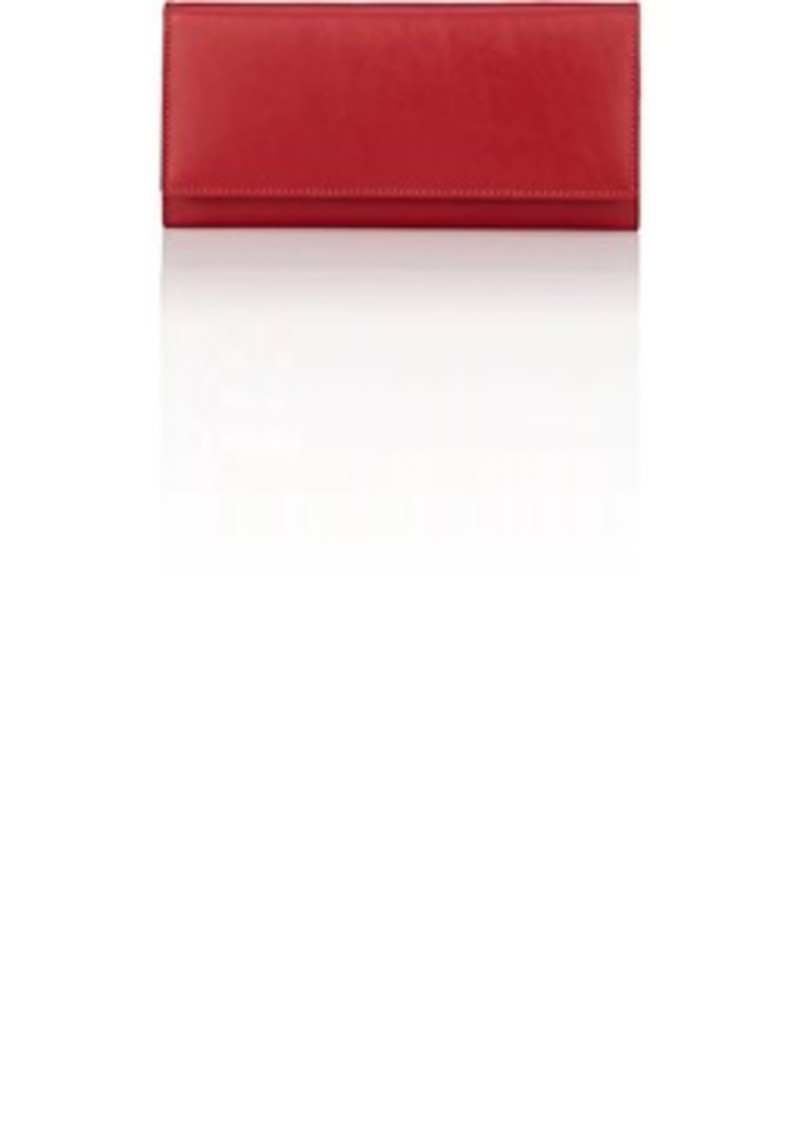 Barneys New York Women's Long Leather Wallet - Red
