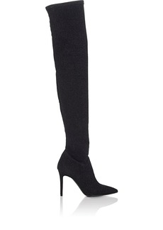 Barneys New York Women's Lucy Metallic-Knit Over-The-Knee Boots