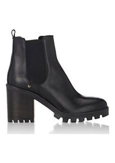 Barneys New York Women's Lug-Sole Leather Chelsea Boots