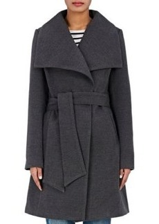 Barneys New York Women's Melton Wrap Coat