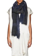 Barneys New York Women's Metallic Cashmere-Blend Scarf - Blue
