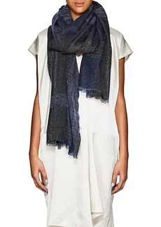 Barneys New York Women's Metallic Cashmere-Blend Scarf - Blue