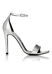 Barneys New York Women's Metallic Leather Ankle-Strap Sandals