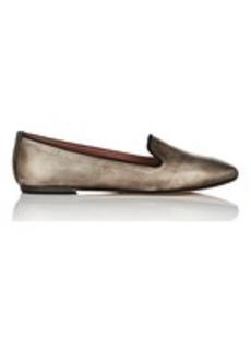 Barneys New York Women's Metallic Leather Smoking Slippers