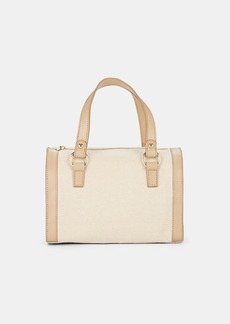 Barneys New York Women's Mini Canvas & Leather Duffel Bag - Neutral