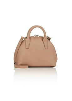 Barneys New York Women's Mini Leather Bowler Bag - Neutral