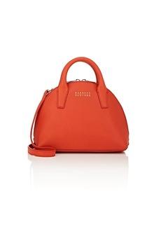 Barneys New York Women's Mini Leather Bowler Bag - Red