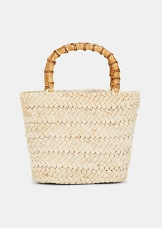Barneys New York Women's Mini Straw Tote Bag - Neutral