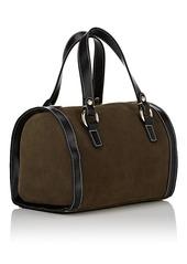 Barneys New York Women's Mini Suede Duffel Bag - Black Pat.
