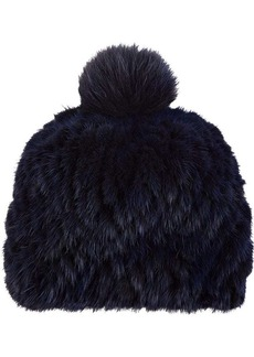 Barneys New York Women's Mink & Fox Fur Knit Beanie