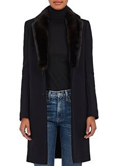 Barneys New York Women's Mink Fur & Felted Wool-Blend Coat