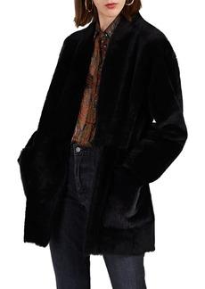 Barneys New York Women's Shearling Belted Coat