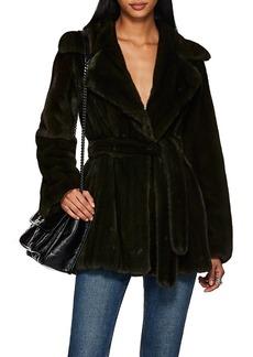 Barneys New York Women's Mink Fur Belted Coat