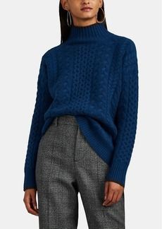 Barneys New York Women's Mixed-Stitch Cashmere Mock-Turtleneck Sweater