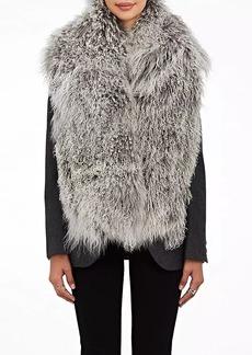 Barneys New York Women's Mongolian Fur Scarf - Gray