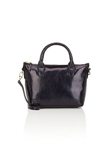 Barneys New York Women's Monica Faux-Leather Mini Crossbody Satchel - Black