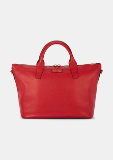 Barneys New York Women's Monica Leather Satchel - Red