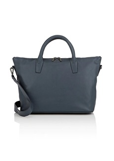 Barneys New York Women's Monica Leather Satchel - Gray